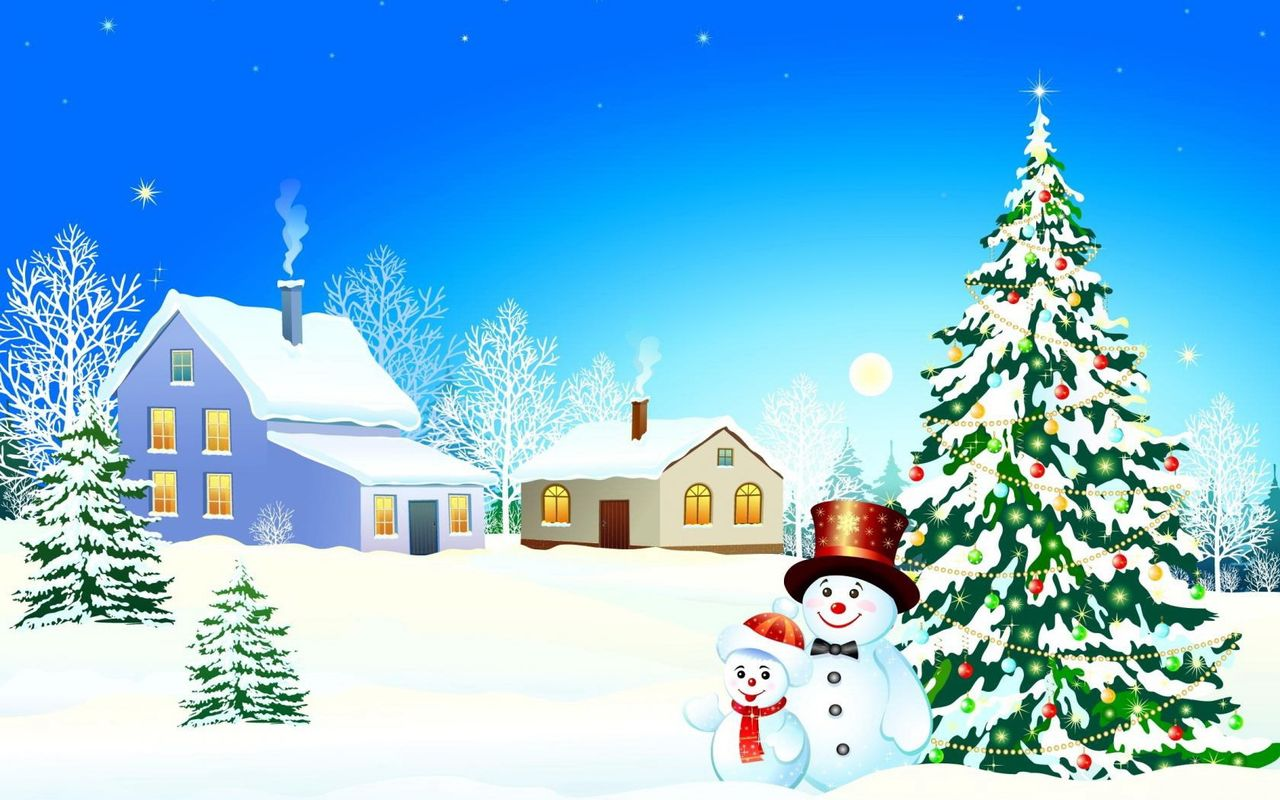 Free Christmas background image for android tablet Arnova 8 1280x800