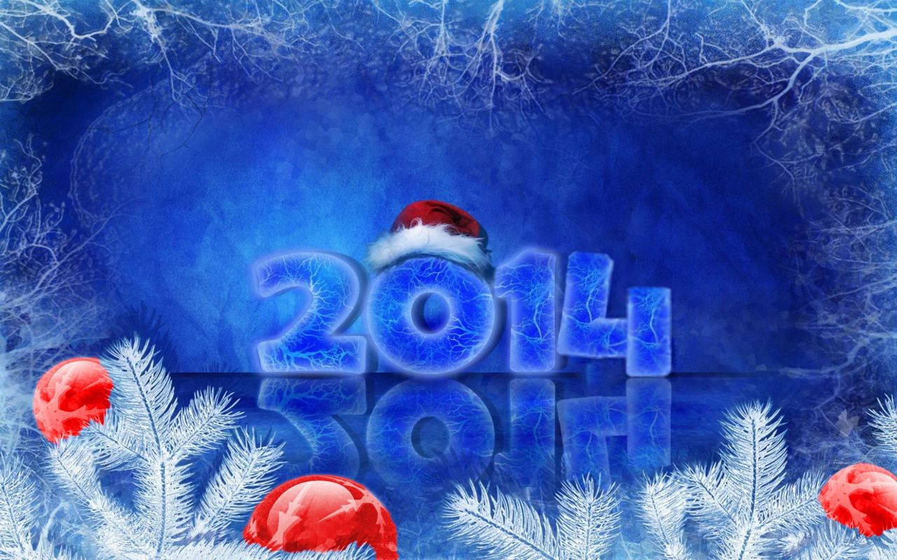 Free New Year background image for your tablet pc Archos 28 1280x800