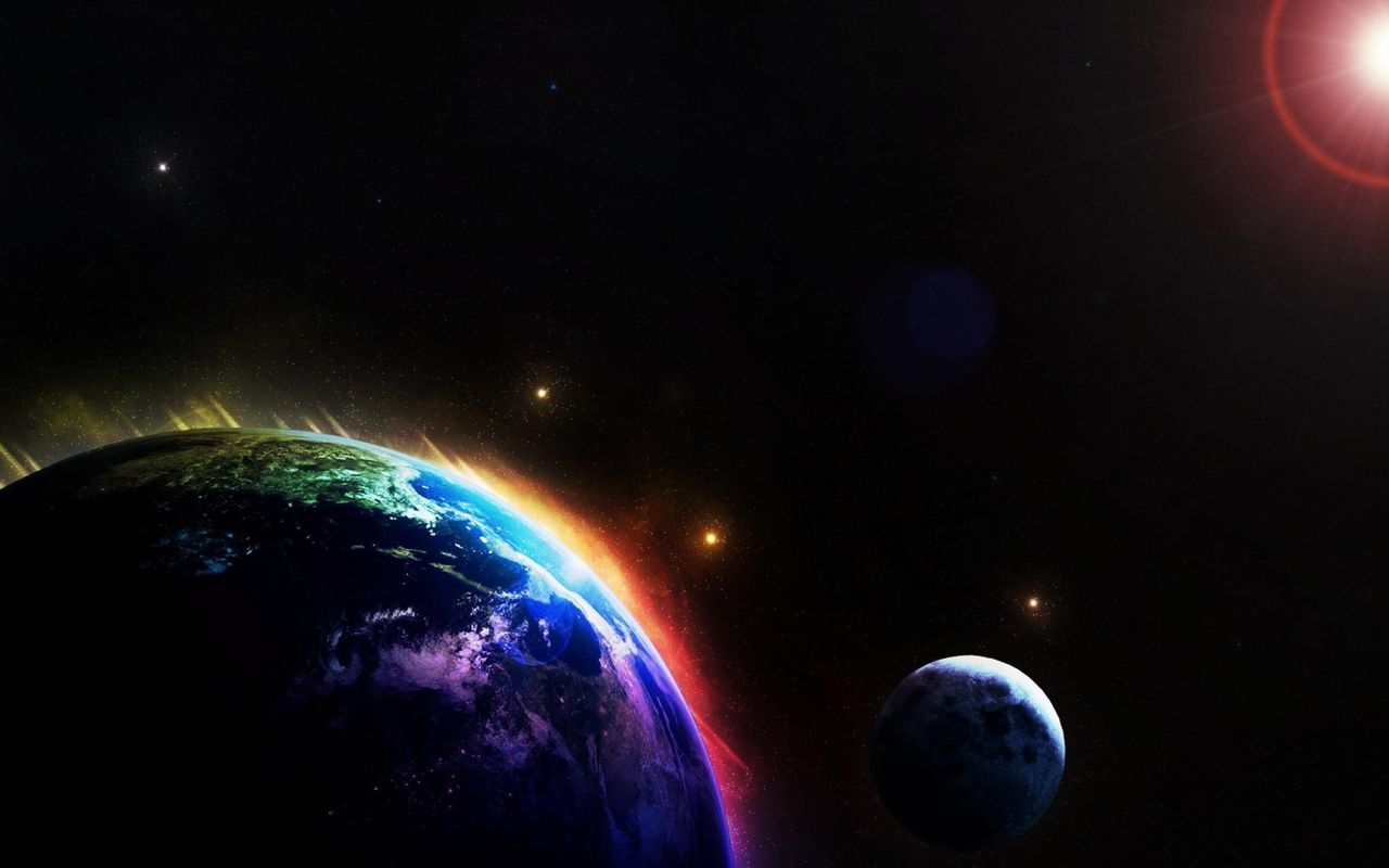 Space Free wallpaper for your android tablet Apple iPad 1280x800