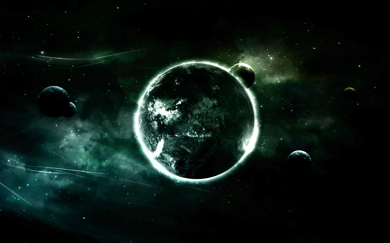 Space Background image for your tablet pc Asus Eee Pad 1280x800