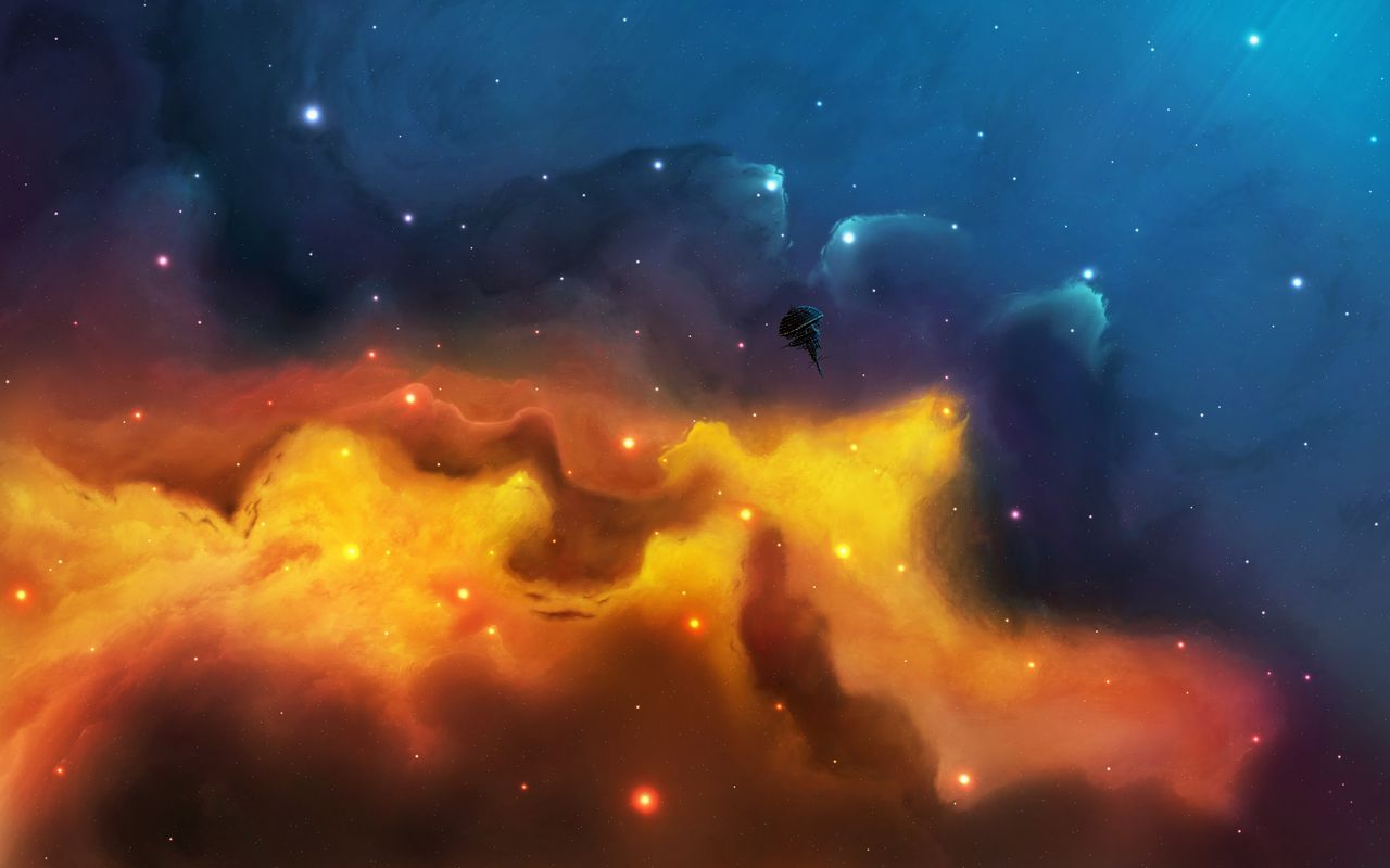 Space Background image for your android tablet pc LG Optimus Pad 1280x800