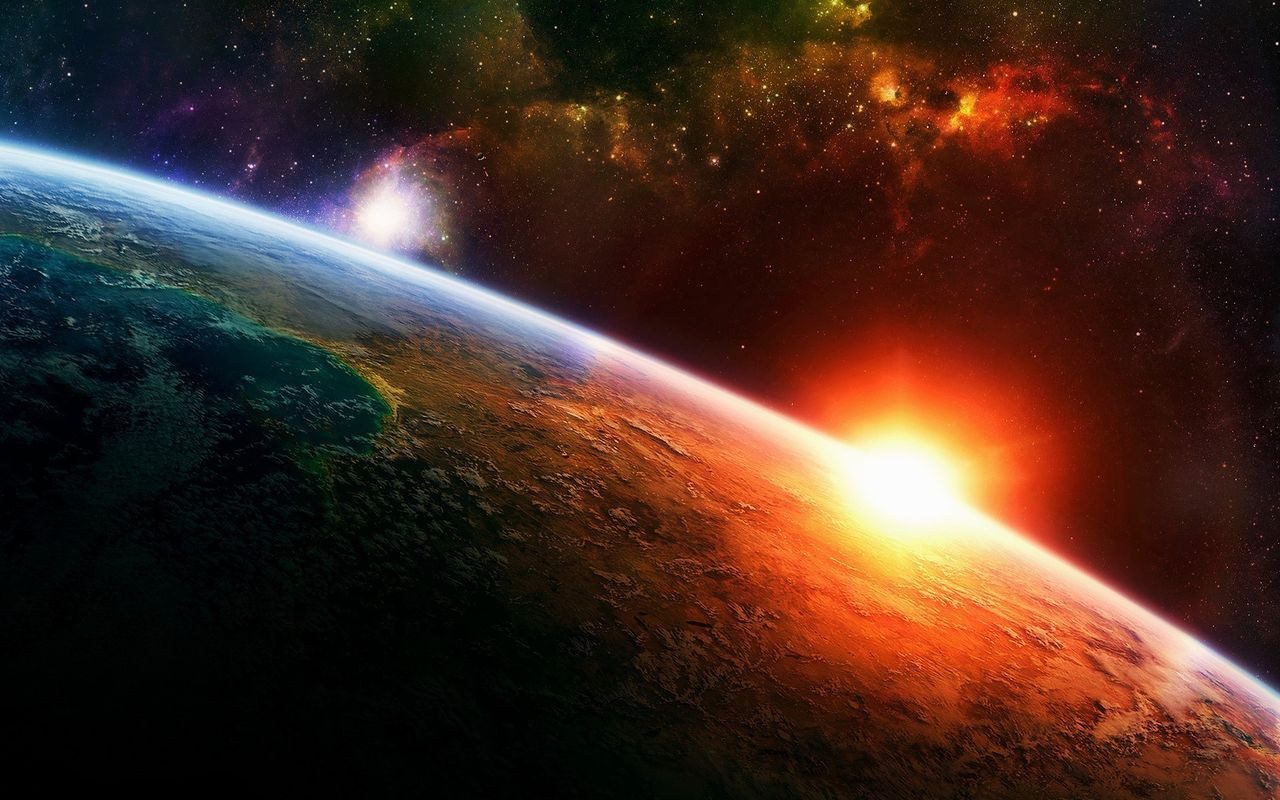 Space Free wallpaper for your android tablet Apple iPad 2 1280*800