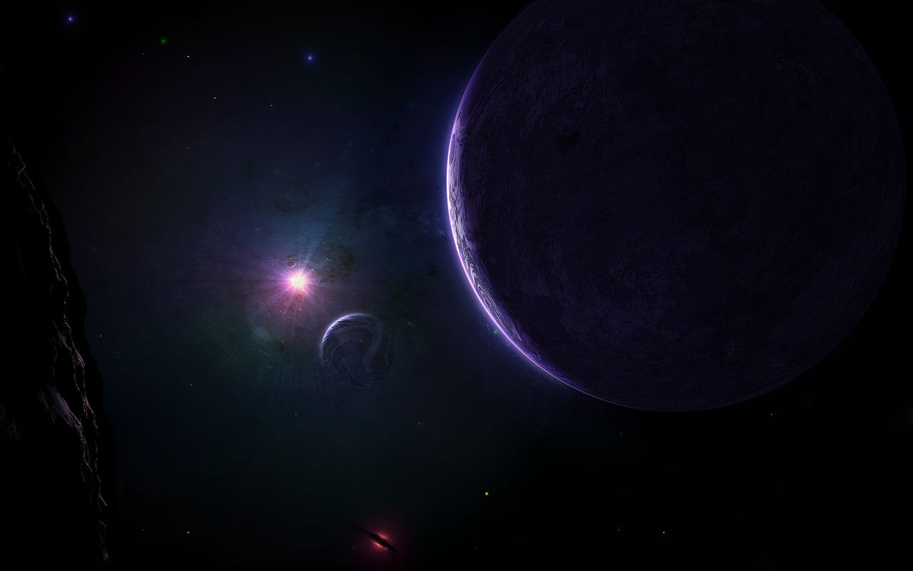 Space Background image for android tablet Apple iPad 1280x800